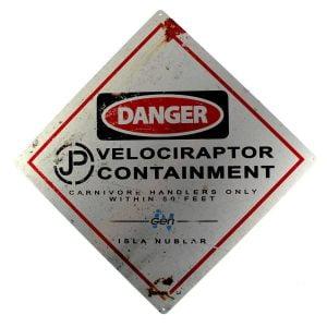 Señal Peligro Velociraptor (Jurassic World)