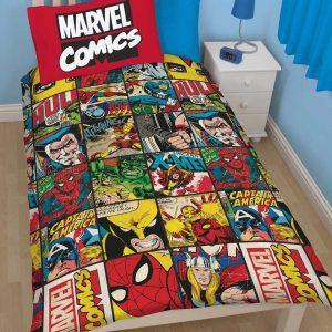 Edredon y cubre-almohada de Marvel Comics