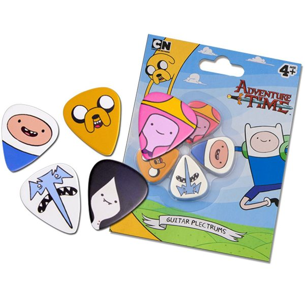 Guitar plectrums Adventure Time