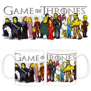 Taza Game of Thrones y The Simpsons