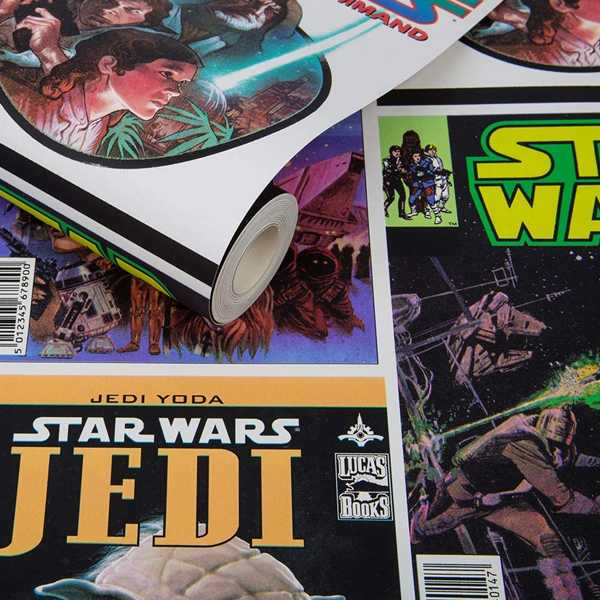 papel pintado star wars decoracion friki