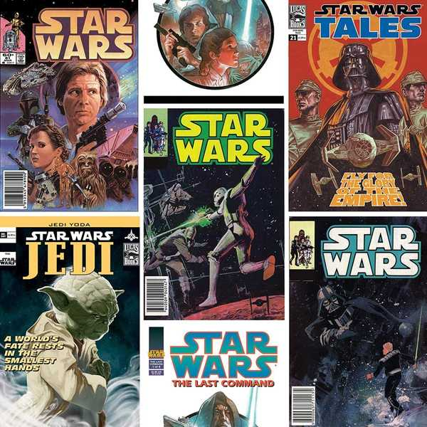 papel pintado star wars portadas de comics