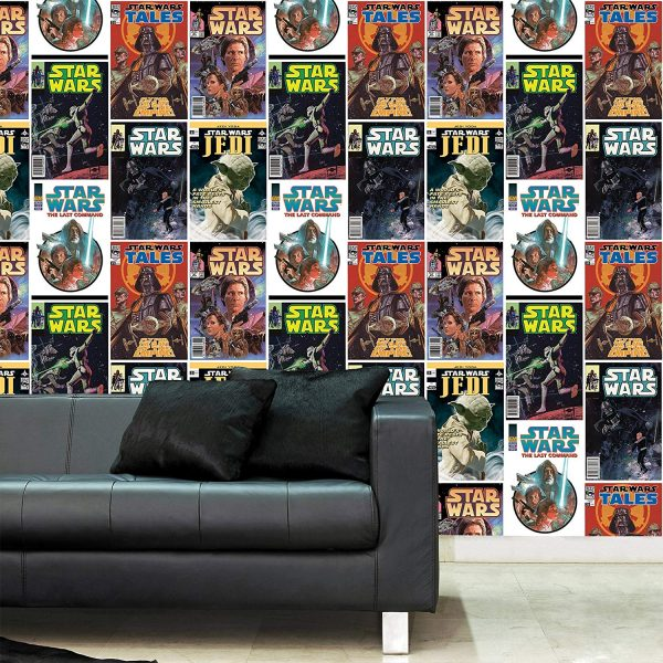 papel decorativo star wars