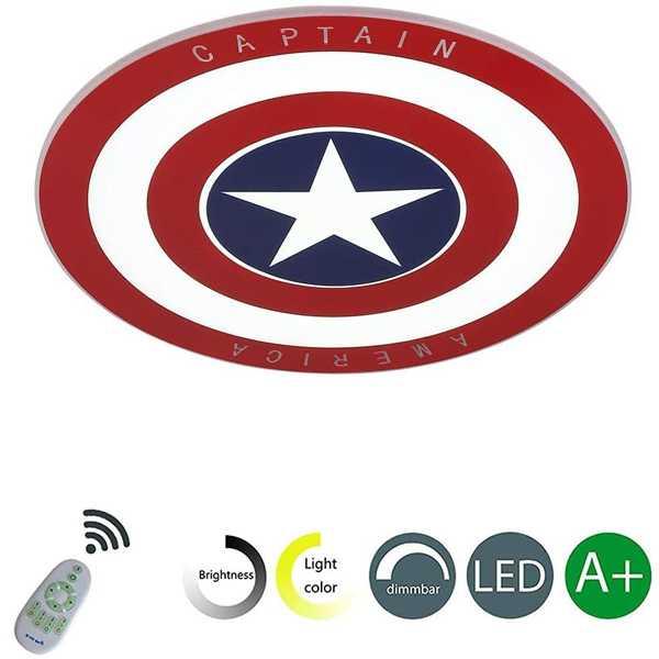 lampara de techo escudo capitan america