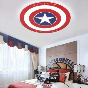 lampara techo marvel capitan america