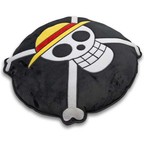 cojin skull de one piece con calavera pirata