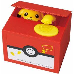 hucha pokemon pikachu recoge monedas