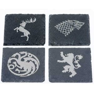 posavasos juego de tronos lannister baratheon stark y targaryen