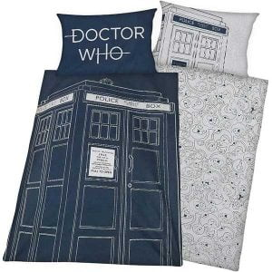 funda edredon y almohada doctor who