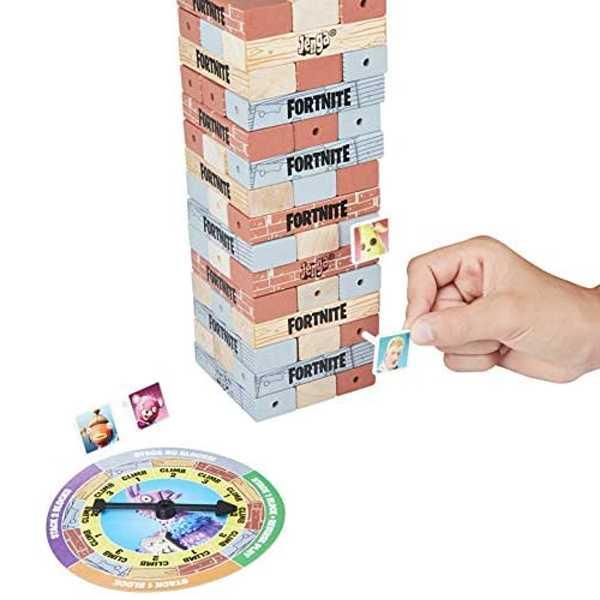 juego jenga fornite con spinner