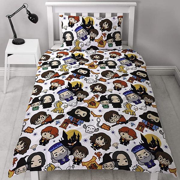 juego de cama con personajes harry potter