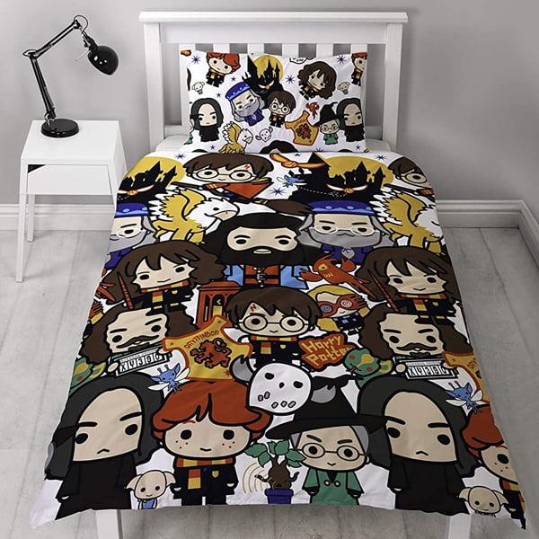 juego de cama con diseño inspirado en harry potter