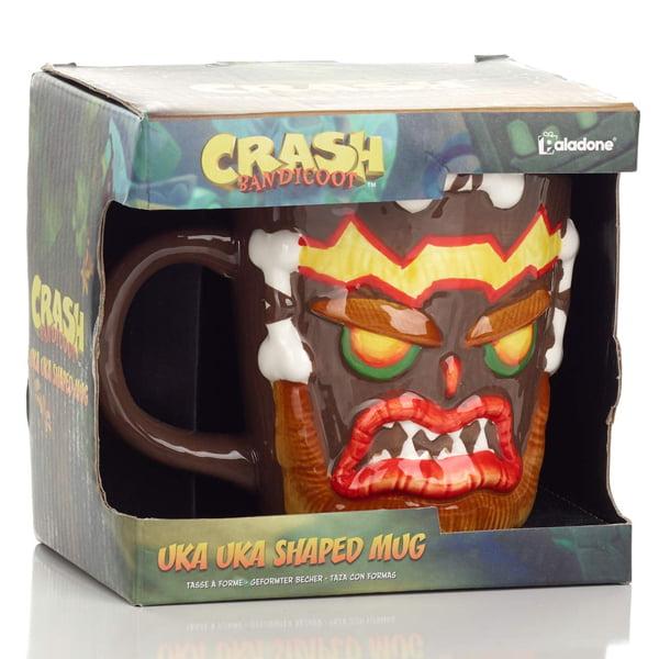 taza de ceramica uka uka crash bandicoot