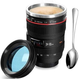 taza lente fotográfica