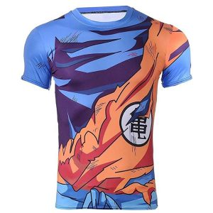 camiseta gimnasio dragon ball goku kame