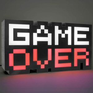 lampara retro game over sonido y colores