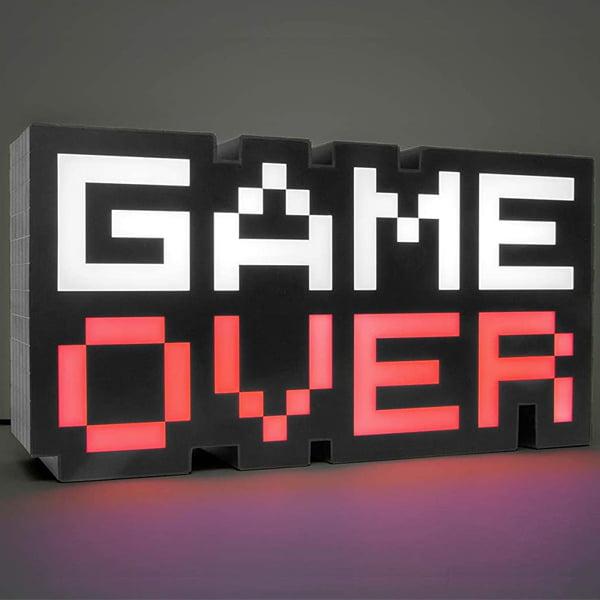 lampara retro game over sonido y colores