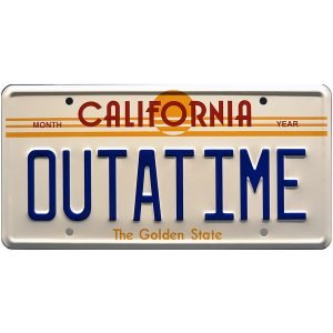 matricula outatime back to the future replica
