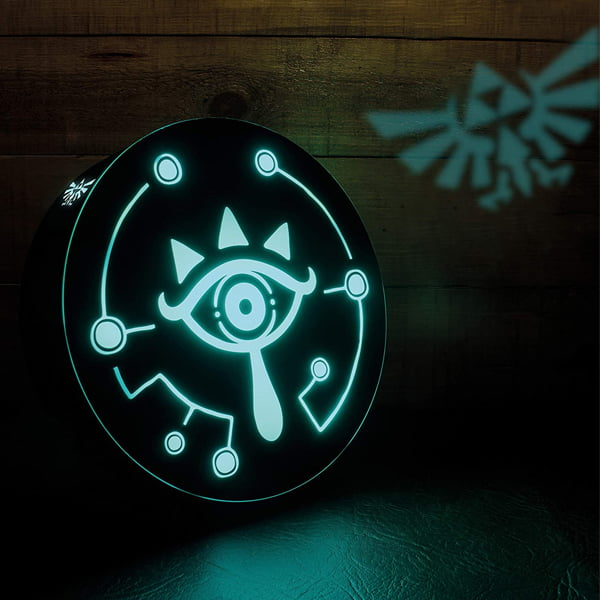 lampara inspirada en the legend of zelda sheikah eye con proyector