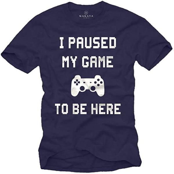 camiseta he pausado mi juego para estar aqui