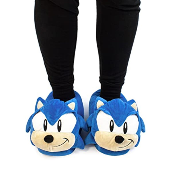 pantuflas relieve sonic the hedgehog
