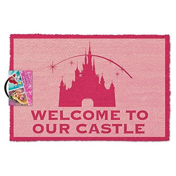 felpudo rosa inspirado en el castillo de disney