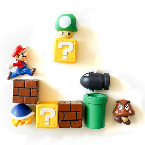 10 imanes con relieve de super mario bros