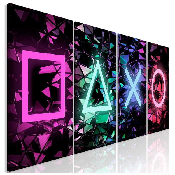 lienzo decorativo simbolos playstation