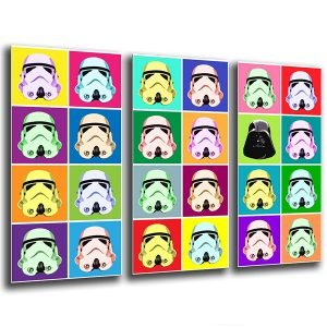 lienzo decorativo star wars inspirado en andy warhol
