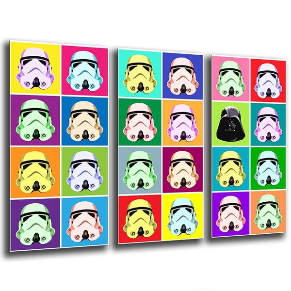 lienzo decorativo star wars inspirado en andy warhol