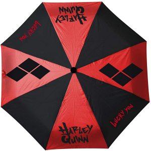 paraguas rojo negro harley quinn