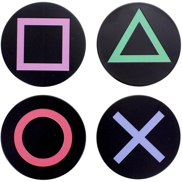 posavasos playstation iconos