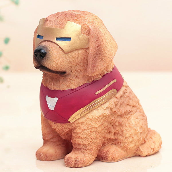 figura perro labrador iron man