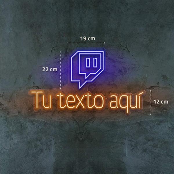 luz neon personalizada logo twitch usuario